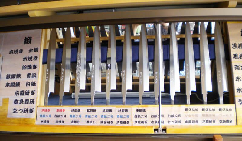 刺身包丁の研ぎ方による仕上げの変化